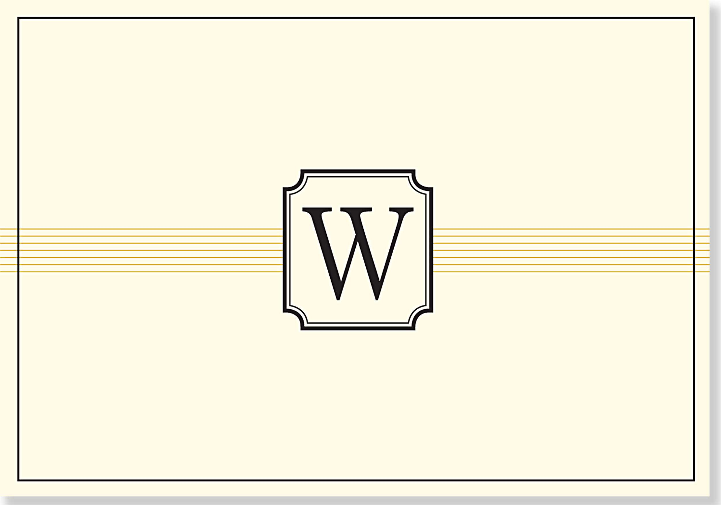 Monogram Note Cards: W (Stationery, Boxed Cards) pdf