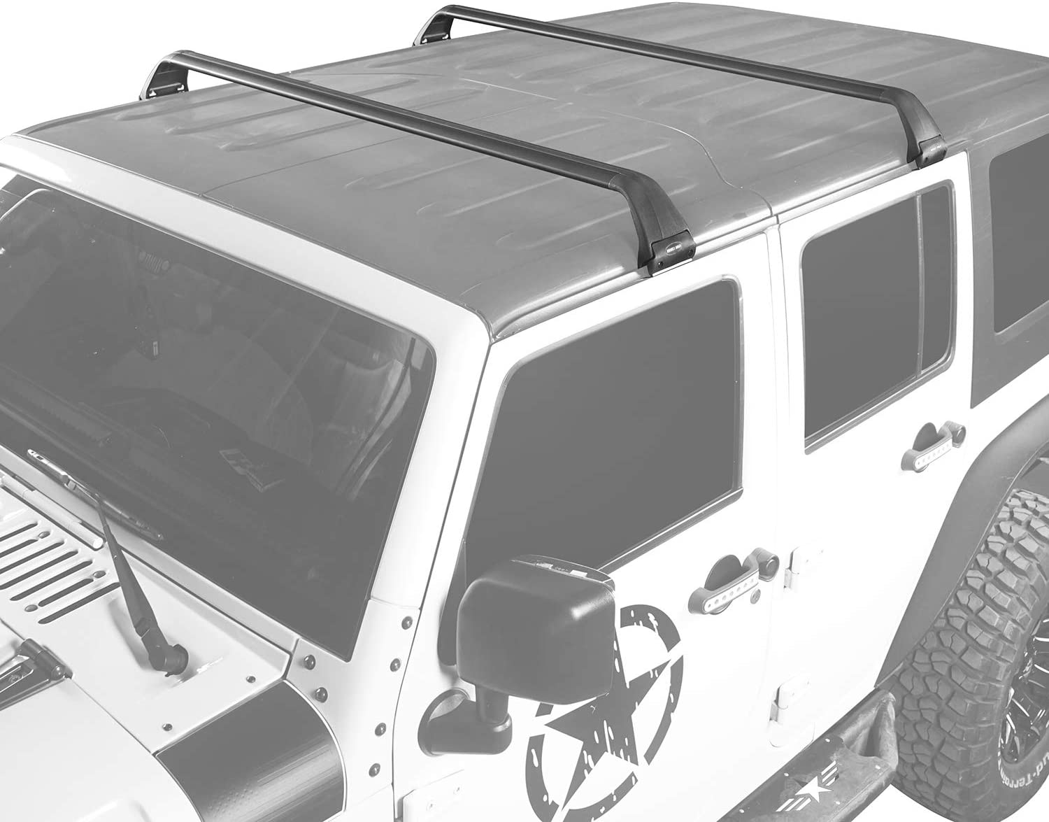 u-Box Roof Rack Removable Roof Cross Bar Kit for 2007-2020 Jeep Wrangler JK JL Luggage Baggage Hard Top Cargo Carries