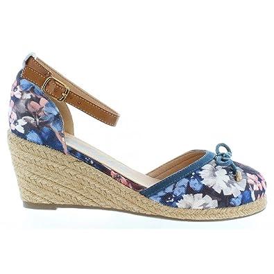 849c3a7b56164e Refresh Schuhe Keilabsatz für Damen 61791 TEX Flor Jeans Schuhgröße ...