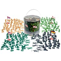 Deals on Army Men Action Figures 200+ Toy Soldiers of WWII