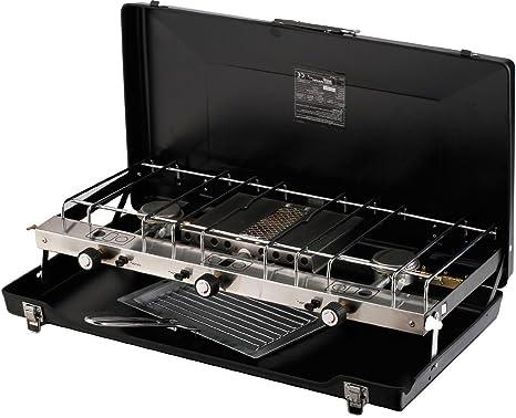 Calentador portátil doble de gas para camping, barbacoa, cocina al aire libre