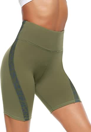 Persit Yoga Shorts for Women High Waist Running Athletic Workout Bike Compression Shorts with Pocket