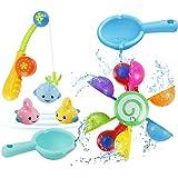 Baby Bath Toys 7pcs Fun Bath Time Play Water Toy Set Bath Fishing Game Floating Bath Toy for Bathtub Swimming Pool for…
