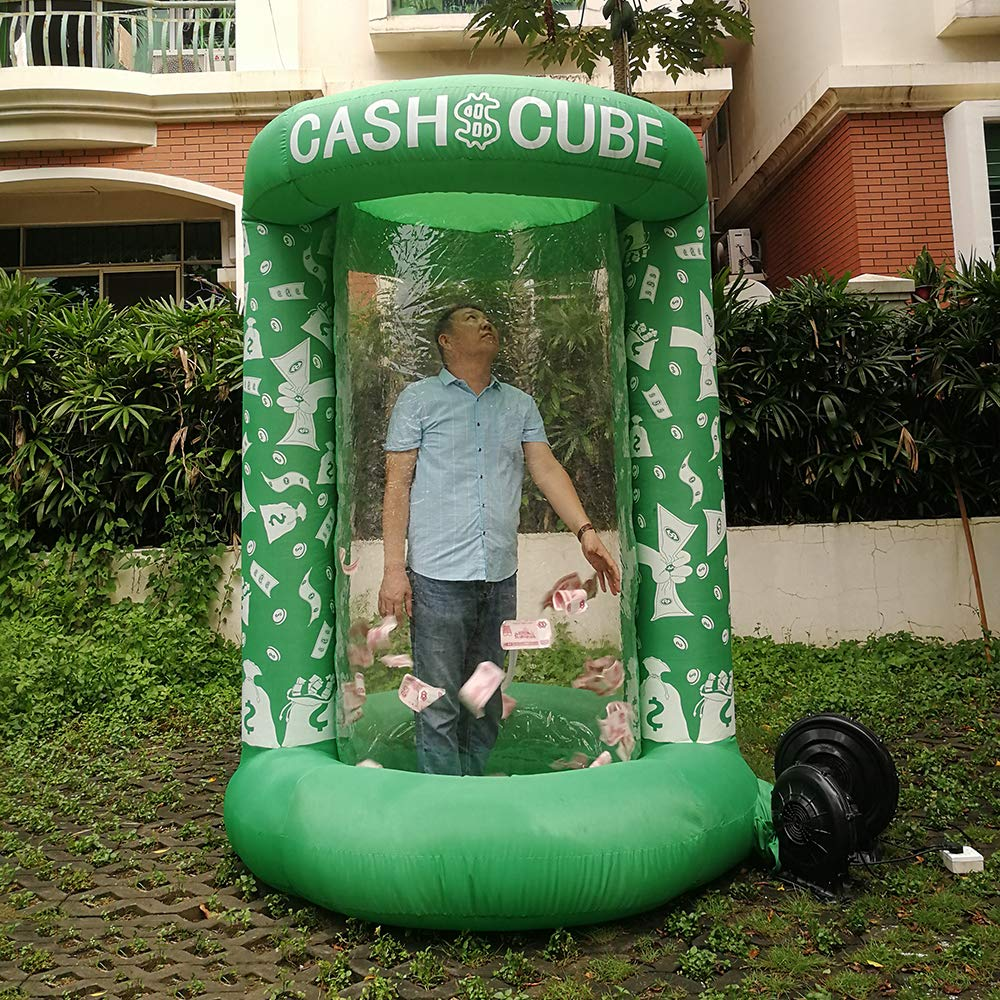 Inflatable Cash Cube Booth for Advertisment, Inflatable Money Grab Machine for Event (No Blower Included) (Green) by Inflatable brother (Image #3)