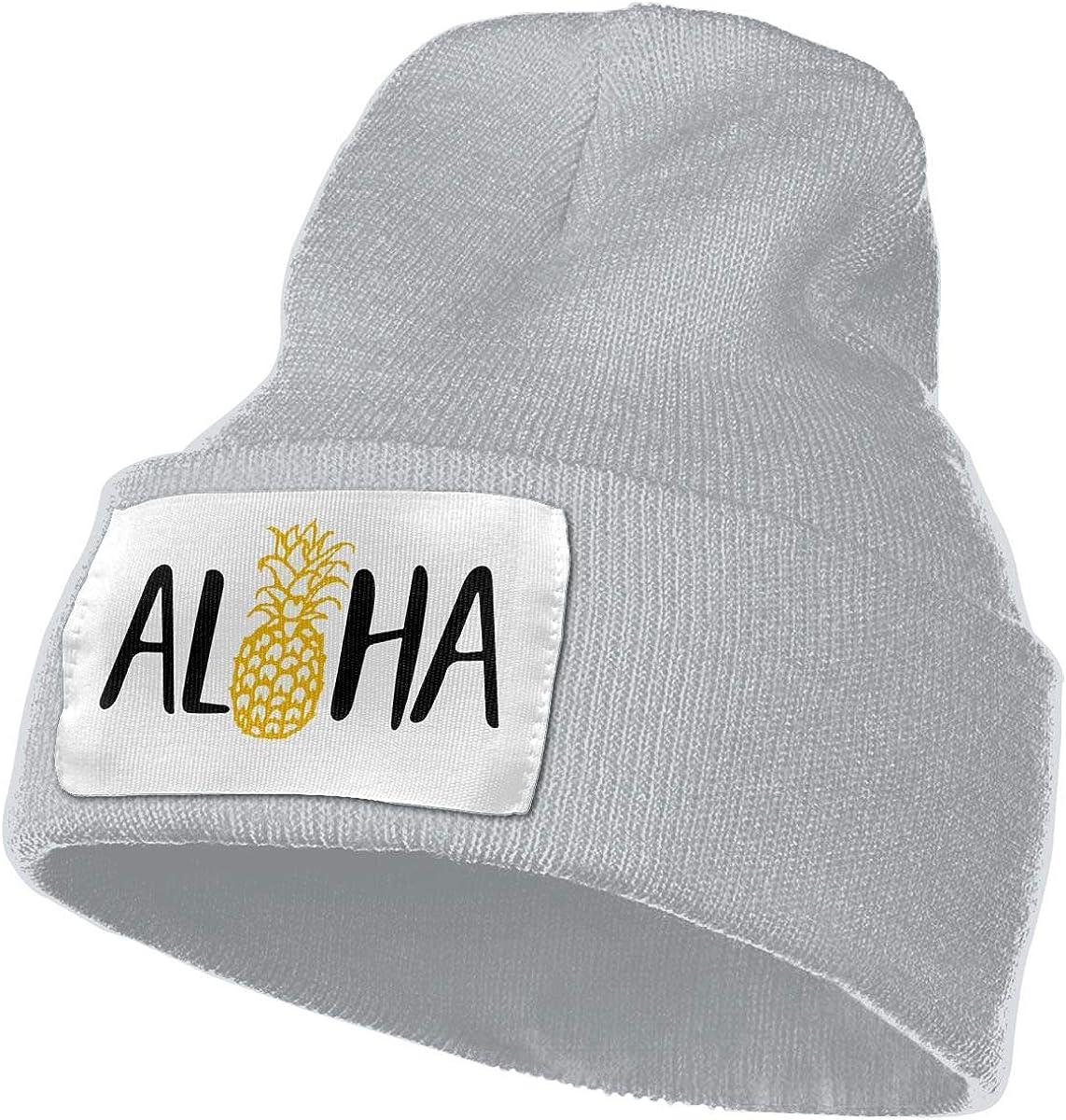 AZNM Pineapple Hawaii Hello Beanie Skull Cap Slouchy Knit Beanie Hats Plain Winter Hats for Men Women Daily
