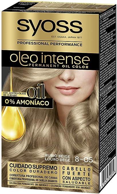 Syoss Oleo Intense - Tono 8-05 Rubio Beige – Coloración ...