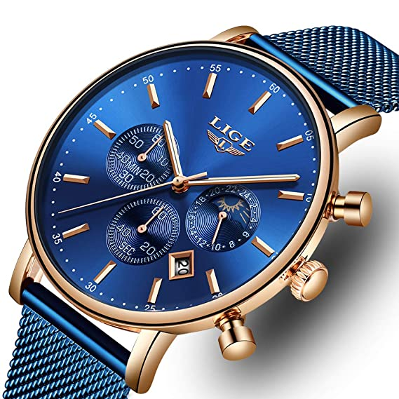 Hombre Acero La Inoxidable Ocio Impermeable Reloj Moda De 9YWEHD2eI