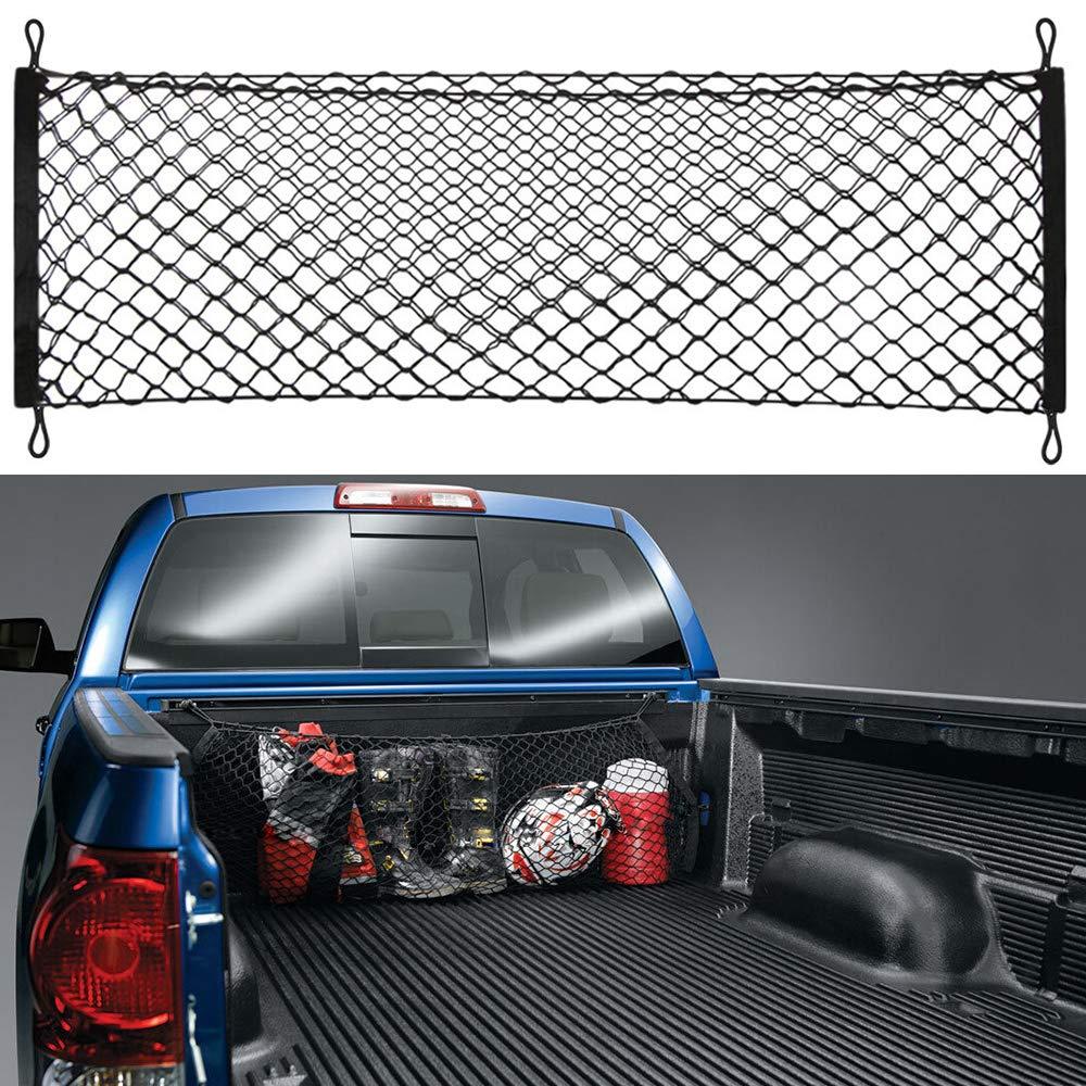Truck Bed Cargo Net Car Hammock Style Trunk Storage Organizer Net Fit Toyota Tundra 2012 2013 2014 2015 2016 2017 2018 2019 Chompoo 8523744087