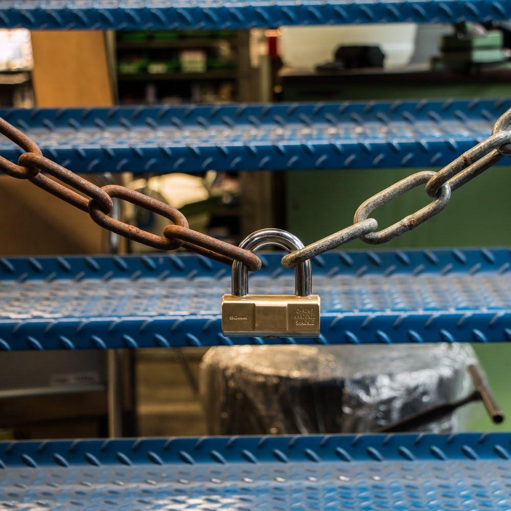 S742-047 3 cl/és STANLEY Cadenas laiton /à barillet 50 mm