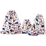 Abaría - 4 unidades bolsa de tela grande tela - bolsa inserto organizador - bolsa inserto