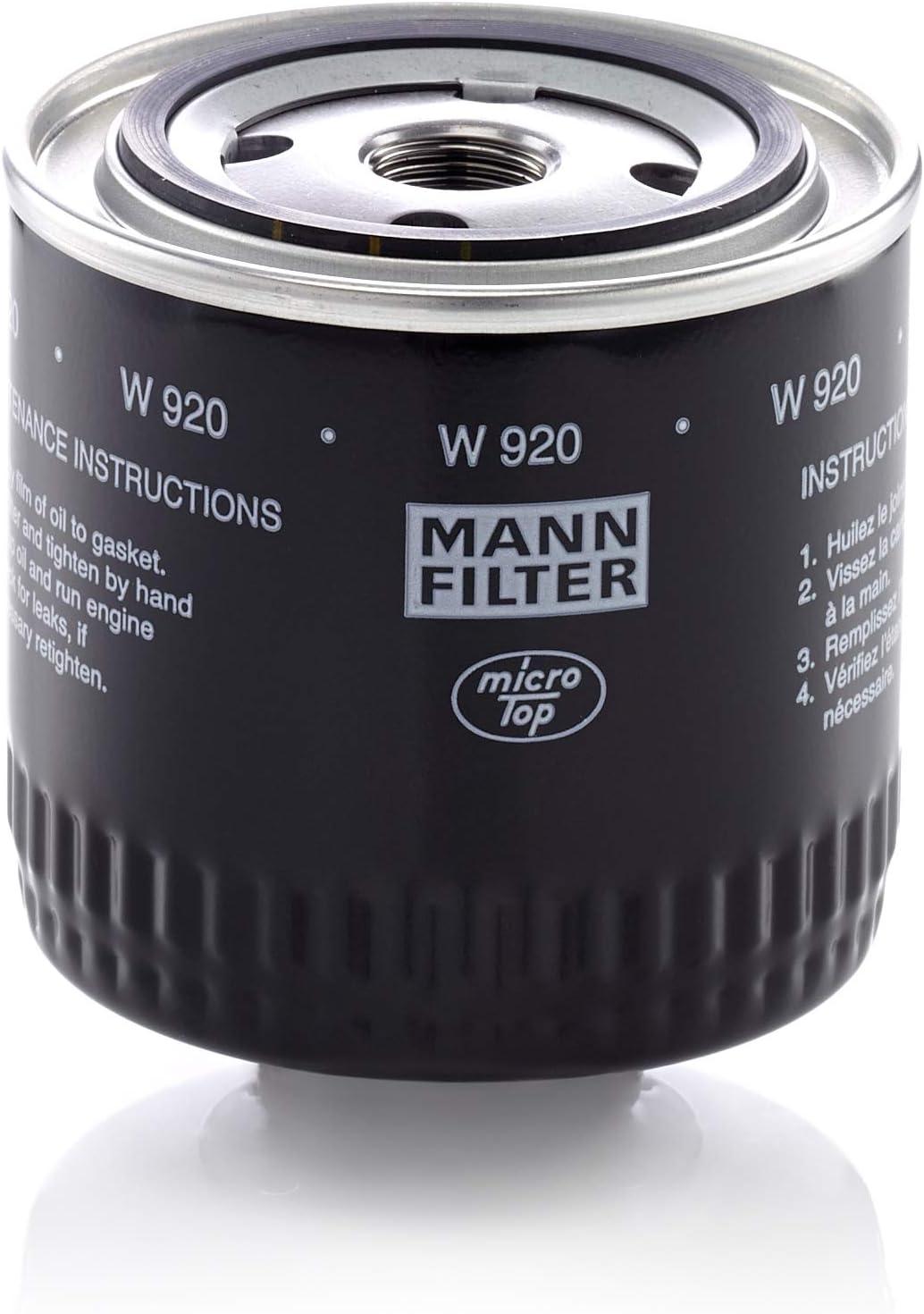 Original Mann Filter Ölfilter W 920 Hydraulikfilter Geeignet Für Automatikgetriebe Für Nutzfahrzeuge Auto
