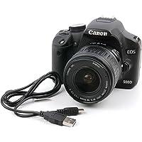 Duragadget - Cavo di sincronizzazione dati digitale mini USB, adatto per l'uso con Canon EOS 1D X, 5DS R, 5DS, 5D, 550D, 6D, 600D, 60D, 7D, 760D, 750D, 700D, 80D, 1300D