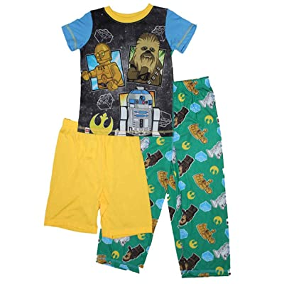 LEGO Star Wars Chewbacca Boys 3-Pc. Pajamas 4-12: Clothing