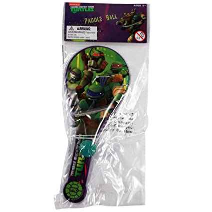 Amazon.com: Ninja Turtles Paddle Ball: Toys & Games