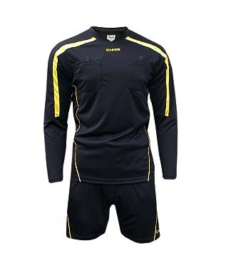 Ichnos Uniforme de árbitro fútbol tamaño Adulto Kit (Camiseta + Pantalones Cortos): Amazon.es: Deportes y aire libre