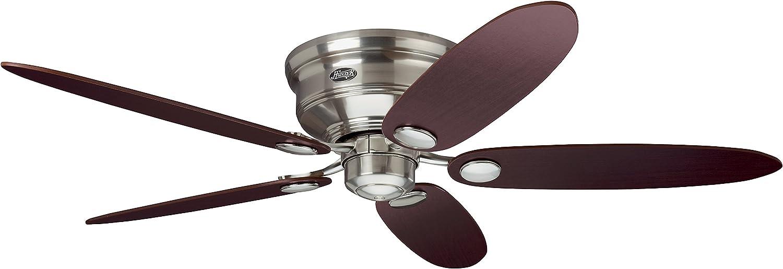 Hunter Fan Low Profile III Ventilador de techo, 75 W, Acero Inoxidable, 3 Velocidades, Niquel Pulido