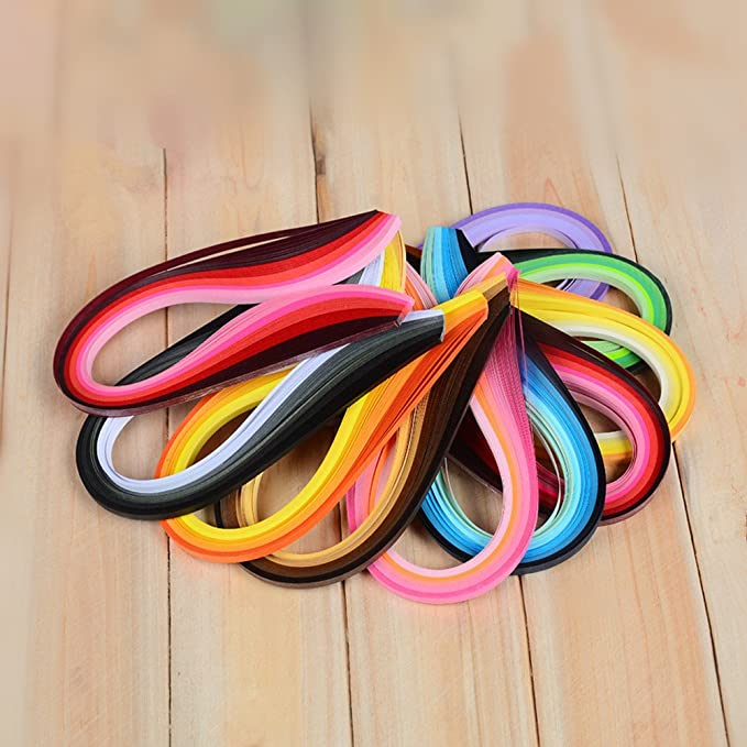 VIFER Paper Multi-Color 720 Pcs Quilling Paper Art Strips en 36 Colores 10mm