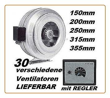 315mm Rohrventilator mit REGLER Rohrlüfter Rohr Lüfter//Ventilator Industrie