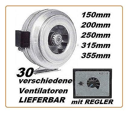 200mm TUBO VENTOLA CON REGOLATORE TUBO Ventilatore ventola del tubo ventole TUBO-Ventilatore