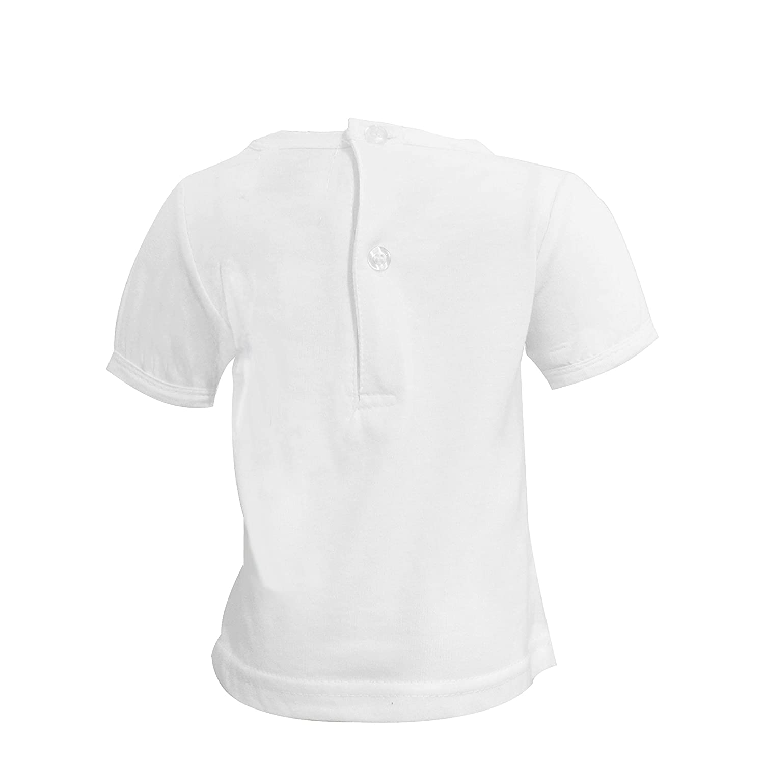 T Shirt White Solid Short and Long Sleeve Cotton Jersey with Comfy Crew Neck Unisex for Girls or Boys