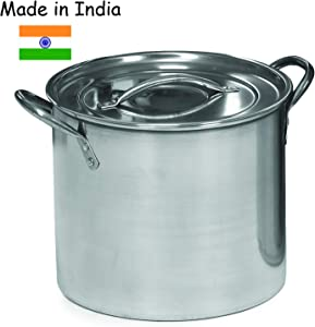 IMUSA USA L300-40315 Stainless Steel Stock Pot with Lid 12-Quart, Silver
