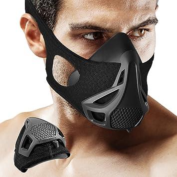 Máscara de entrenamiento – 4 nivel regulador de flujo de aire deporte ejercicio máscara de respiración