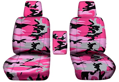 Fine Totally Covers Fits 2004 2008 Ford F 150 Camo Truck Bucket Seat Covers With Center Armrest W Wo Integrated Seat Belts Pink Camouflage 16 Prints Inzonedesignstudio Interior Chair Design Inzonedesignstudiocom