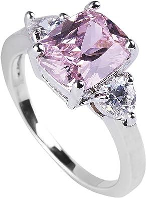 5 Carats Cushion Cut Pink Sapphire Engagement Ring Anniversary Ring Wedding Ring