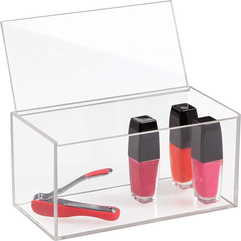 iDesign Organizador de maquillaje con tapa, organizador de ...