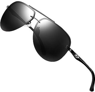 ATTCL Hombre Gafas De Sol Polarizado Uv400 Al-Mg Marco De ...