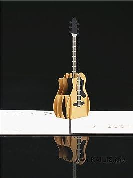 kailiz nuevo 3d guitarra Premium calidad 3d Pop Up Tarjeta de ...