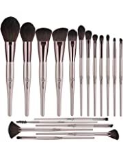 BESTOPE Makeup Brushes Set 18PCS Professional Cosmetic Brushes Premium Synthetic for Blending Foundation Powder Blush Concealers Highlighter Eye Shadows Brushes Kit, Champagne Gold