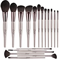 BESTOPE Makeup Brushes Set 18PCS Professional Cosmetic Brushes Premium Synthetic for Blending Foundation Powder Blush Concealers Highlighter Eye Shadows Brushes Kit,Champagne Gold