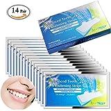 MLMSY - Confezione da 28 pezzi di strisce sbiancanti per denti, a carboni attivi, per 14trattamenti, sufficienti per 2 settimane, kit sbiancante professionale, 14 Pair