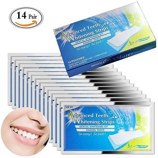 2 opinioni per MLMSY- Confezione da 28 pezzi di strisce sbiancanti per denti, a carboni attivi,