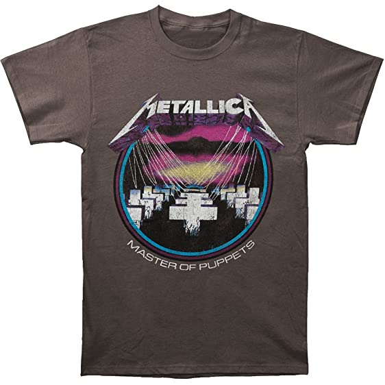 Metallica Master of Puppets Adult Charcoal T-Shirt | eBay