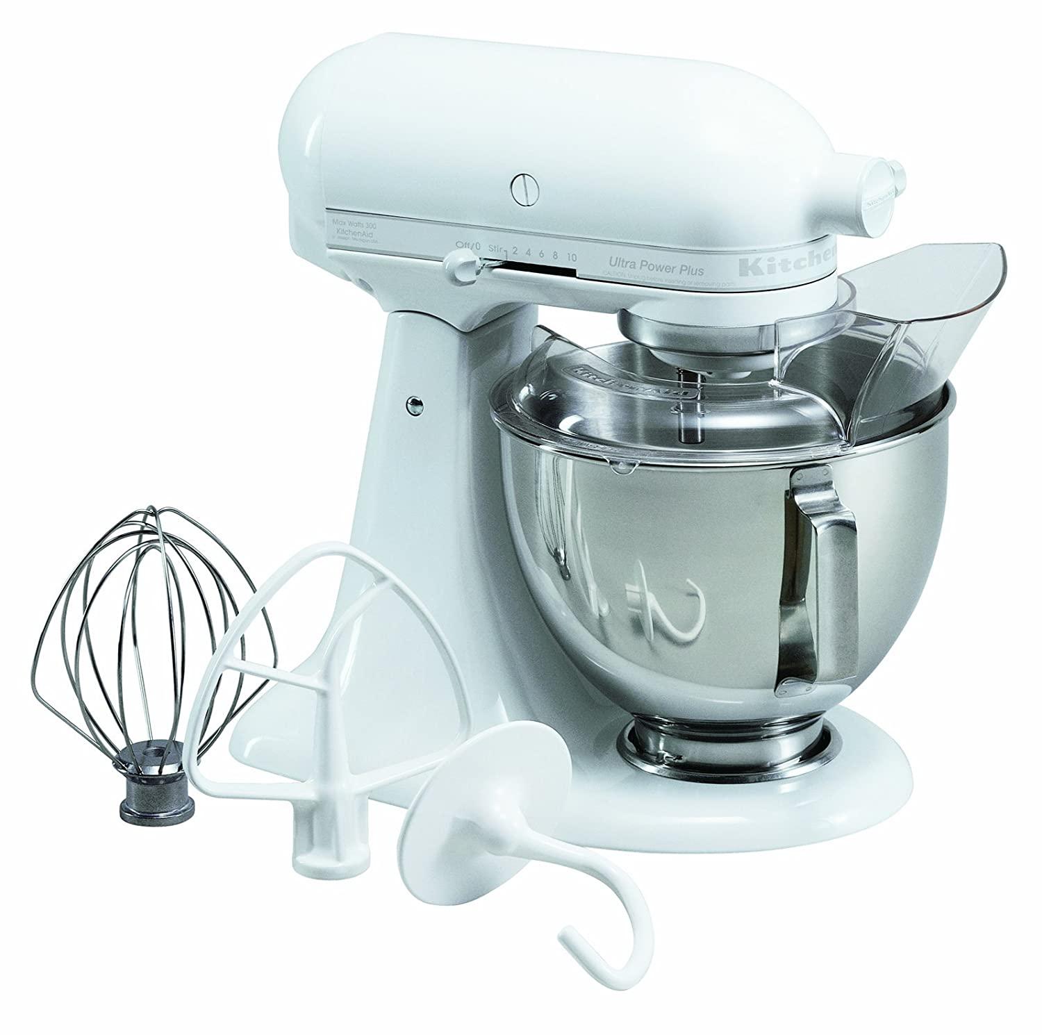 Amazon.com: KitchenAid KSM100PSWW Ultra Power Plus 4-1/2-Quart Stand ...