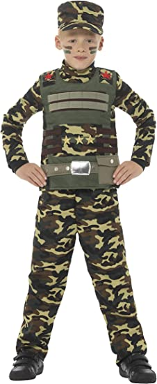 SmiffyS 48209S Disfraz De Camuflaje Militar Para Niño De Color ...