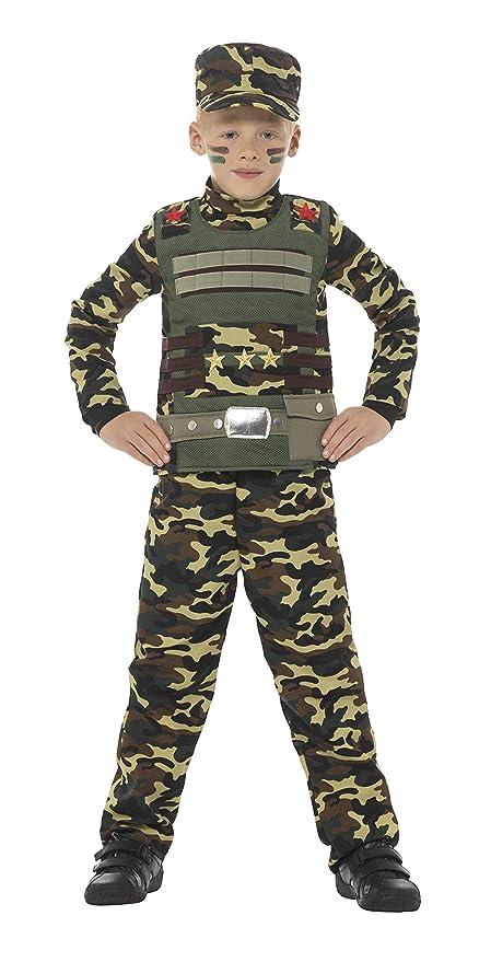 SMIFFYS Costume Militare Mimetico da Ragazzo 30a773f4538d