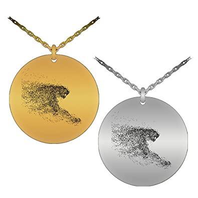 Creative unique running cheetah laser engraved pendant necklace creative unique running cheetah laser engraved pendant necklace stainless steel version aloadofball Image collections