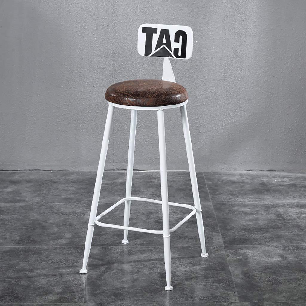 B NDD Bar Stools American LOFT Bar Chair Iron Art Retro Bar Stools High Stool Counter Stool (color   B)