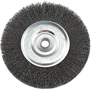 IVY Classic 39058 8-Inch x 5/8 - 1/2-Inch Arbor, Carbon Steel Crimped Bench Wire Wheel - 0.012-Inch Coarse, 1/Card