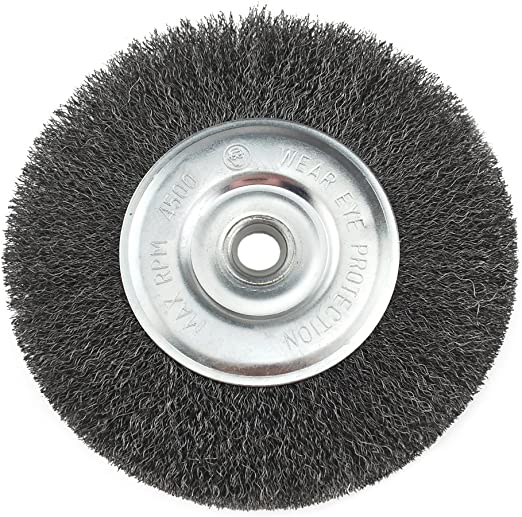 Carbon Steel Crimped Bench Wire Wheel 0.012-Inch Coarse 1//Card IVY Classic 39056 6-Inch x 5//8-1//2-Inch Arbor