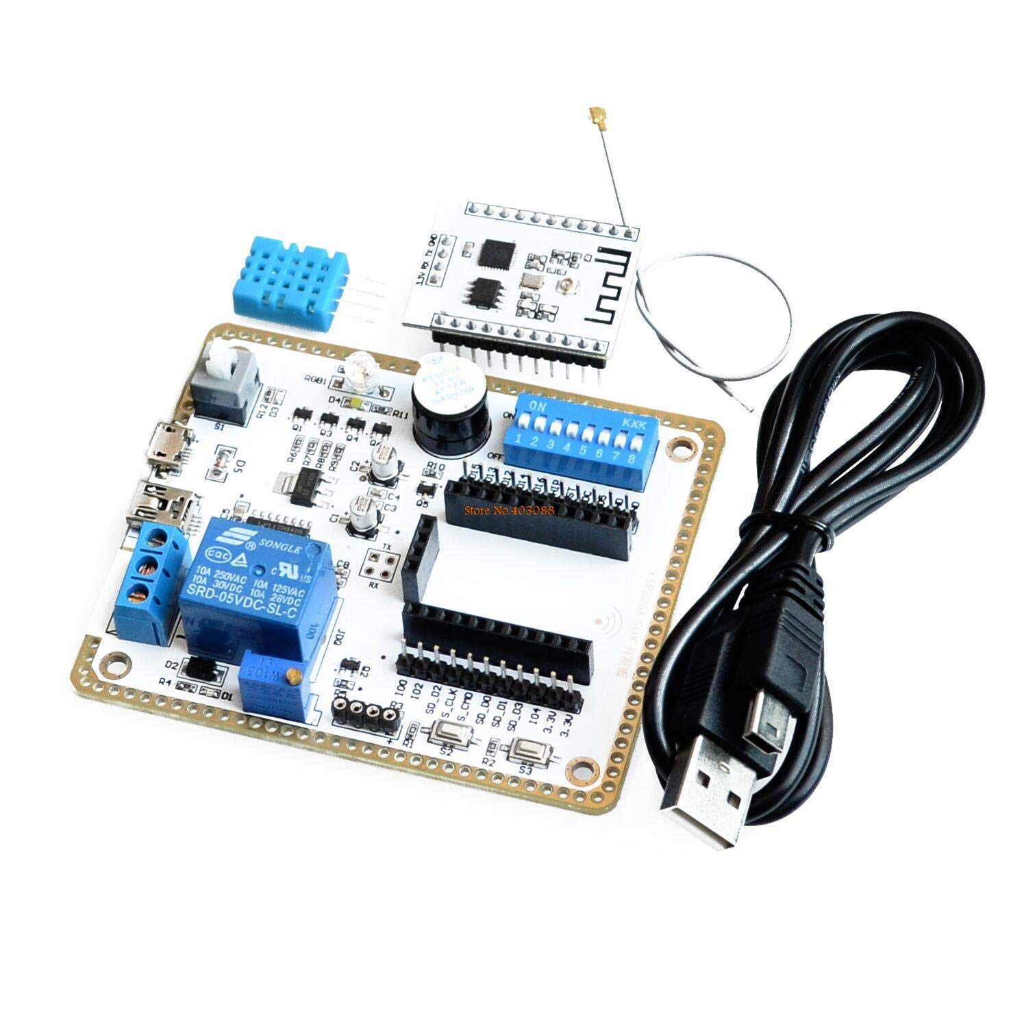 1sets ESP8266 Wireless WiFi Module Develop Board 8266 SDK Development Chip with The Cable