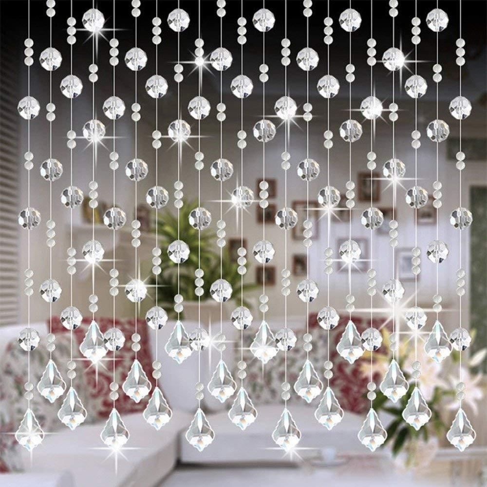 Amazon.com: 1 cortina de cristal con cuentas de cristal para ...