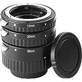 Meike AF Macro Auto Focus Metal Extension Tube Set Jeu de tubes-allonges Macro Autofocus pour Nikon Camera + Caps Nikon D5000 D80 D90 D300 D7000 AF AF-S DX FX D610 D600 D7100 D3200 D3000 D70 D40 D5000 D80 D800 D90 D300 D700 DC319