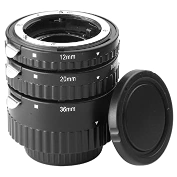 Meike AF Macro Auto Focus Metal Extension Tube Set Jeu de tubes-allonges Macro  Autofocus bf69bf87794f