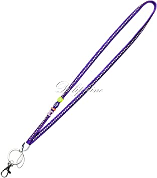 Blue Silk Braided Leather Necklace Lanyard with Happy Letter