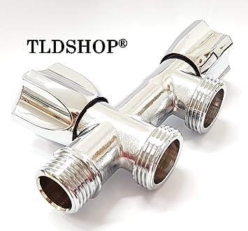 TLDSHOP® Grifo doble para lavadora/lavavajillas - Carga agua ...