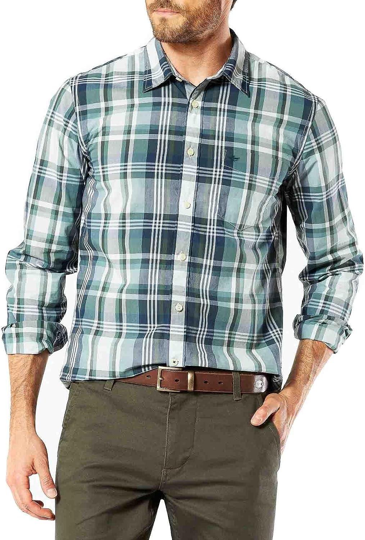 dockers Camisa Laundered Poplin Welch M Verde: Amazon.es: Ropa y accesorios